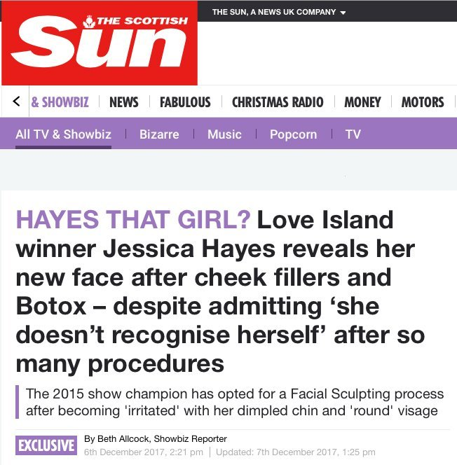 The Sun - Hayes that Girl?