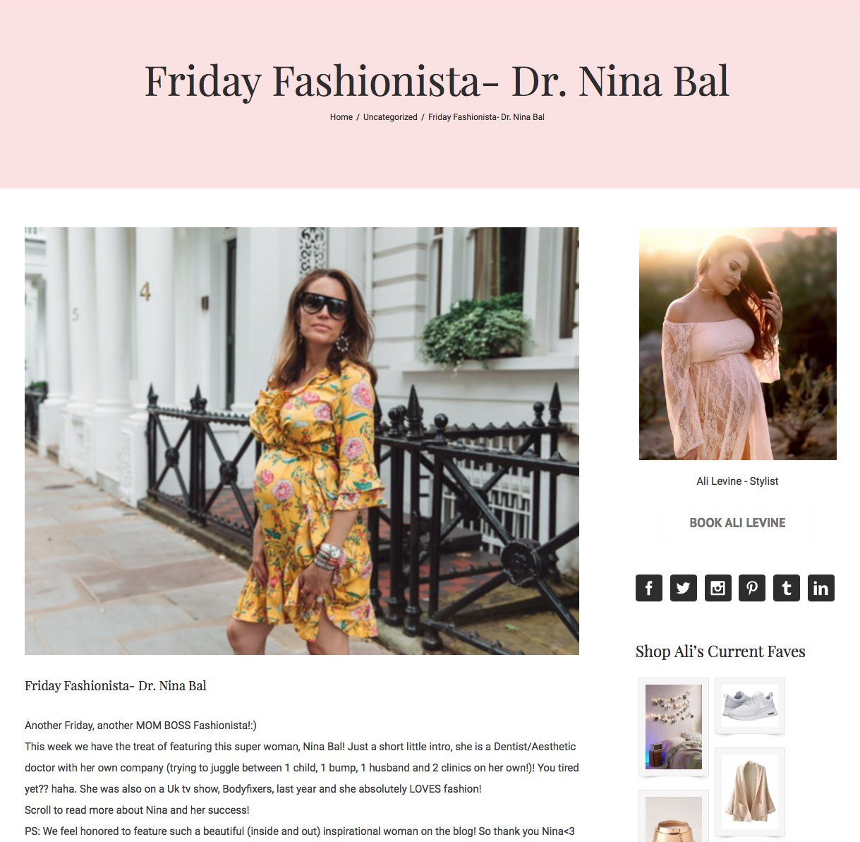 Ali Levine stylist's blog