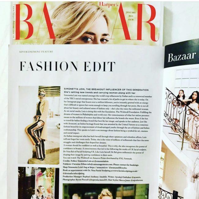 Dr Nina bazaar magazine
